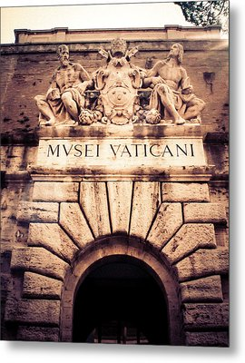 Metal Print featuring the photograph Musei Vaticani Uscita by Rob Tullis