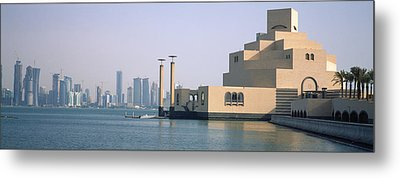 Museum At The Waterfront, Museum Of Metal Print by Panoramic Images