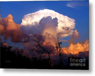 Mushroom Cloud At Sunset Metal Print by Doris Wood