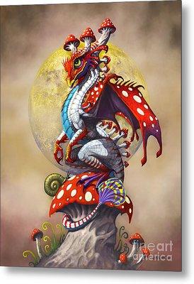 Mushroom Dragon Metal Print