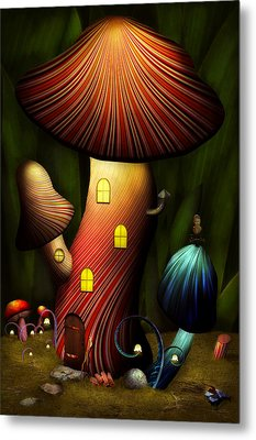 Mushroom - Magic Mushroom Metal Print by Mike Savad