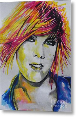 Music Artist..pink Metal Print by Chrisann Ellis