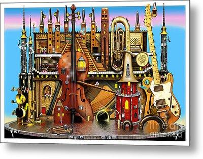 Music Castle Metal Print