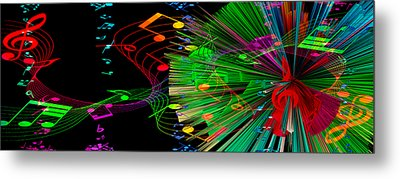 Music Colors The World 3 Metal Print by Angelina Vick