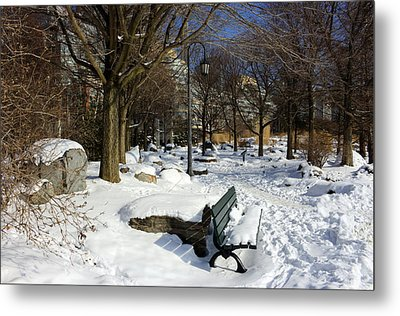 Music Garden Winter Metal Print by Nicky Jameson