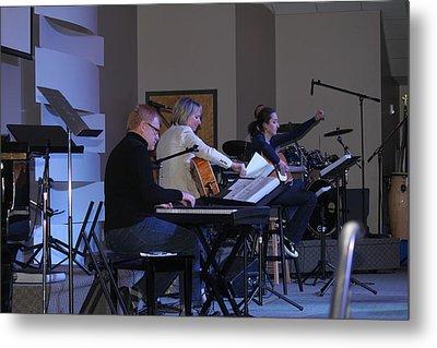 Music In Church Metal Print by Carolyn Ricks