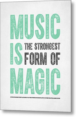 Music Is Magic Metal Print