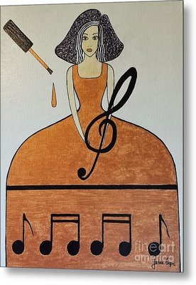 Music Lover Metal Print by Jasna Gopic