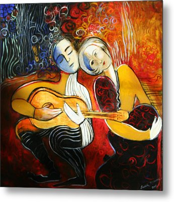 Music Lovers Metal Print