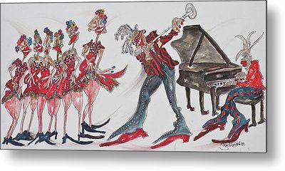 Music Moves The Groove Metal Print by Suzanne Macdonald