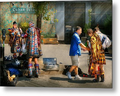 Music - Mummers Preperation Metal Print by Mike Savad