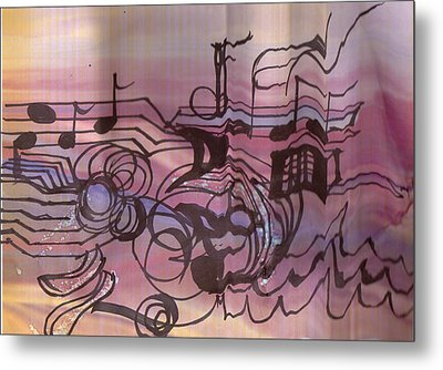 Music Out Of The Box Metal Print by Anne-Elizabeth Whiteway