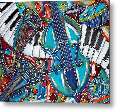 Music Time 1 Metal Print by Cynthia Snyder