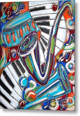 Music Time 2 Metal Print by Cynthia Snyder