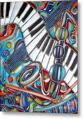 Music Time 3 Metal Print by Cynthia Snyder
