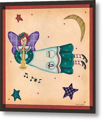 Musical Angel Metal Print by Tracy Campbell