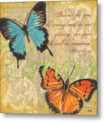 Musical Butterflies 1 Metal Print by Debbie DeWitt