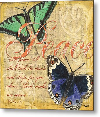 Musical Butterflies 2 Metal Print by Debbie DeWitt