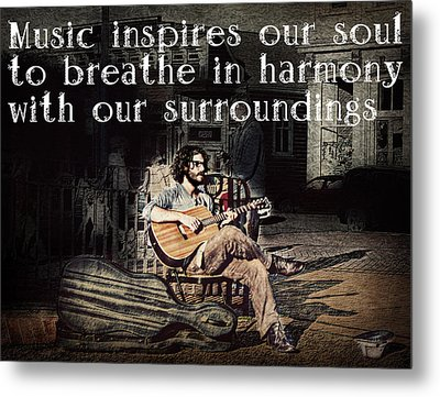 Musical Inspiration Metal Print by Melanie Lankford Photography