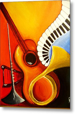 Musical Instruments Metal Print by Rajni A