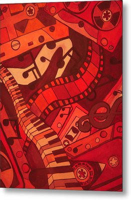 Musical Movements Metal Print by Chelsea Allen