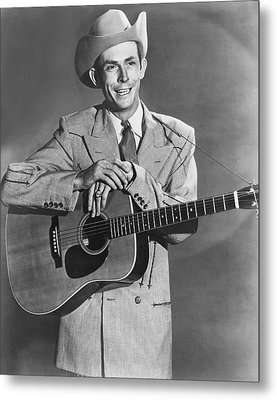 Musician Hank Williams Metal Print by Underwood Archives