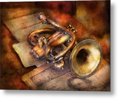 Musician - Horn - Toot My Horn Metal Print by Mike Savad