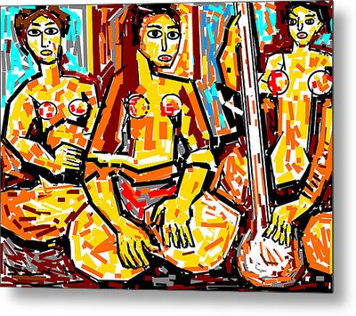 Musicians Metal Print by Anand Swaroop Manchiraju