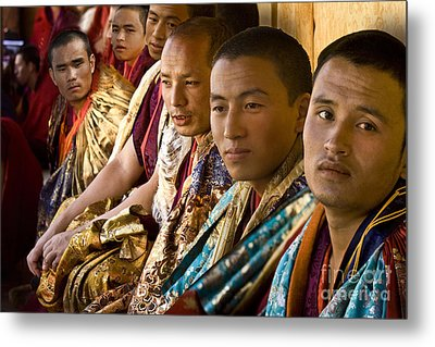 Metal Print featuring the digital art Musicians From Bhutan by Angelika Drake
