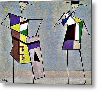 Musicians Metal Print by Lew Griffin