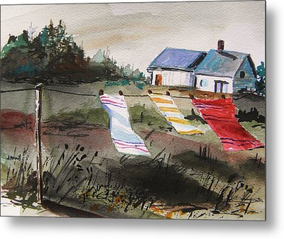 Musing-kitchen Towels Metal Print by John Williams