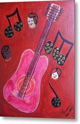 Musique Rouge Metal Print by Clarissa Burton