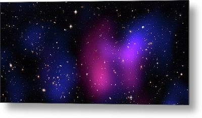 Musketball Galaxy Cluster Metal Print