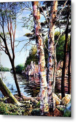 Muskoka Reflections Metal Print by Hanne Lore Koehler