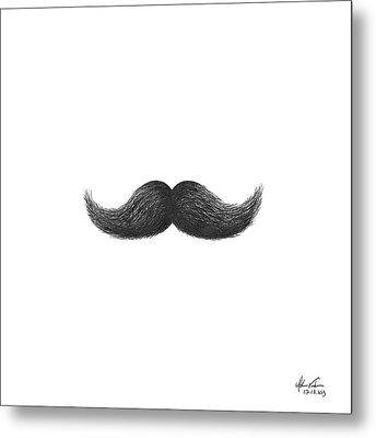 Mustache Metal Print