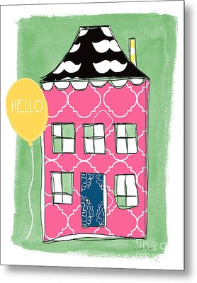 Mustache House Metal Print by Linda Woods