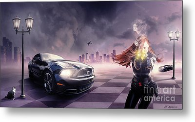 Metal Print featuring the photograph Mustang by Bruno Santoro