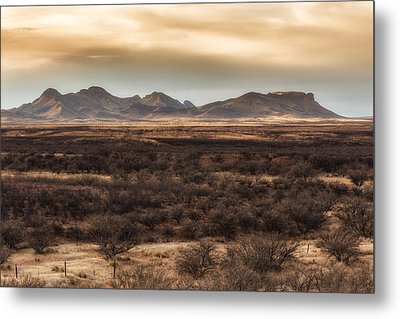 Metal Print featuring the photograph Mustang Mountains by Beverly Parks