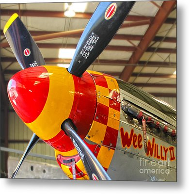 Mustang P-51d Wee Willie Metal Print by Gregory Dyer