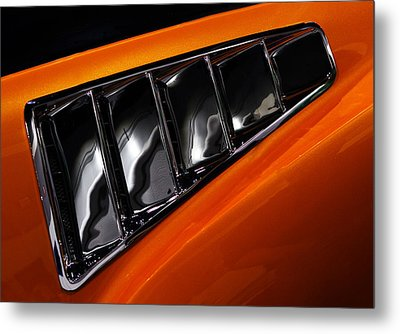 Mustang Vents Metal Print by Rebecca Cozart