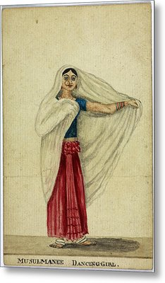 Musulmanee Dancing-girl Metal Print