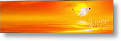 Mute Sunset Metal Print by John Edwards