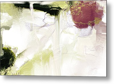Muted Clay White Metal Print
