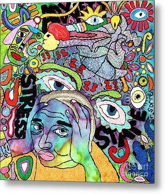 My Aching Head Metal Print by Susan Sorrell