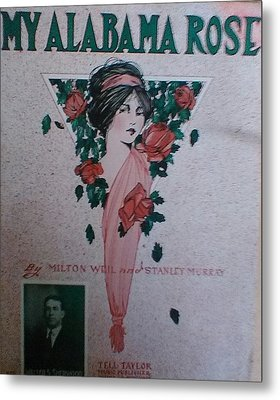 My Alabama Rose  Metal Print by Jeanette  Malinchok