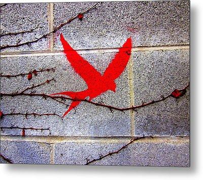 My Beautiful Brick Wall Metal Print by Laura  Gomez