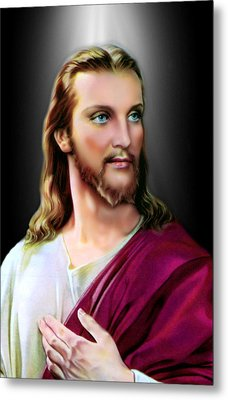 My Beautiful Jesus 2 Metal Print by Karen Showell