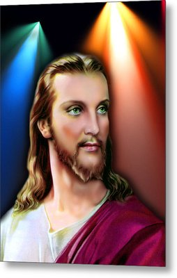 My Beautiful Jesus 3 Metal Print by Karen Showell