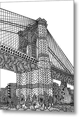 My Beloved Brooklyn Bridge Metal Print