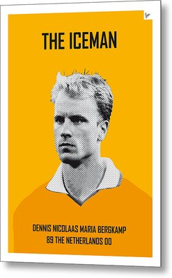 My Bergkamp Soccer Legend Poster Metal Print by Chungkong Art